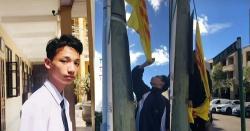 (Đề nghị) Pháp lý cho vấn đề cháu Dương Đức Thịnh hạ cờ Vàng